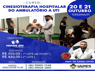 Curso Cinesioterapia Hospitalar do Ambulatório a UTI (Método Hands on Fisioterapia)